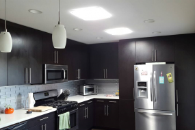 Kitchen with Square Diffuser